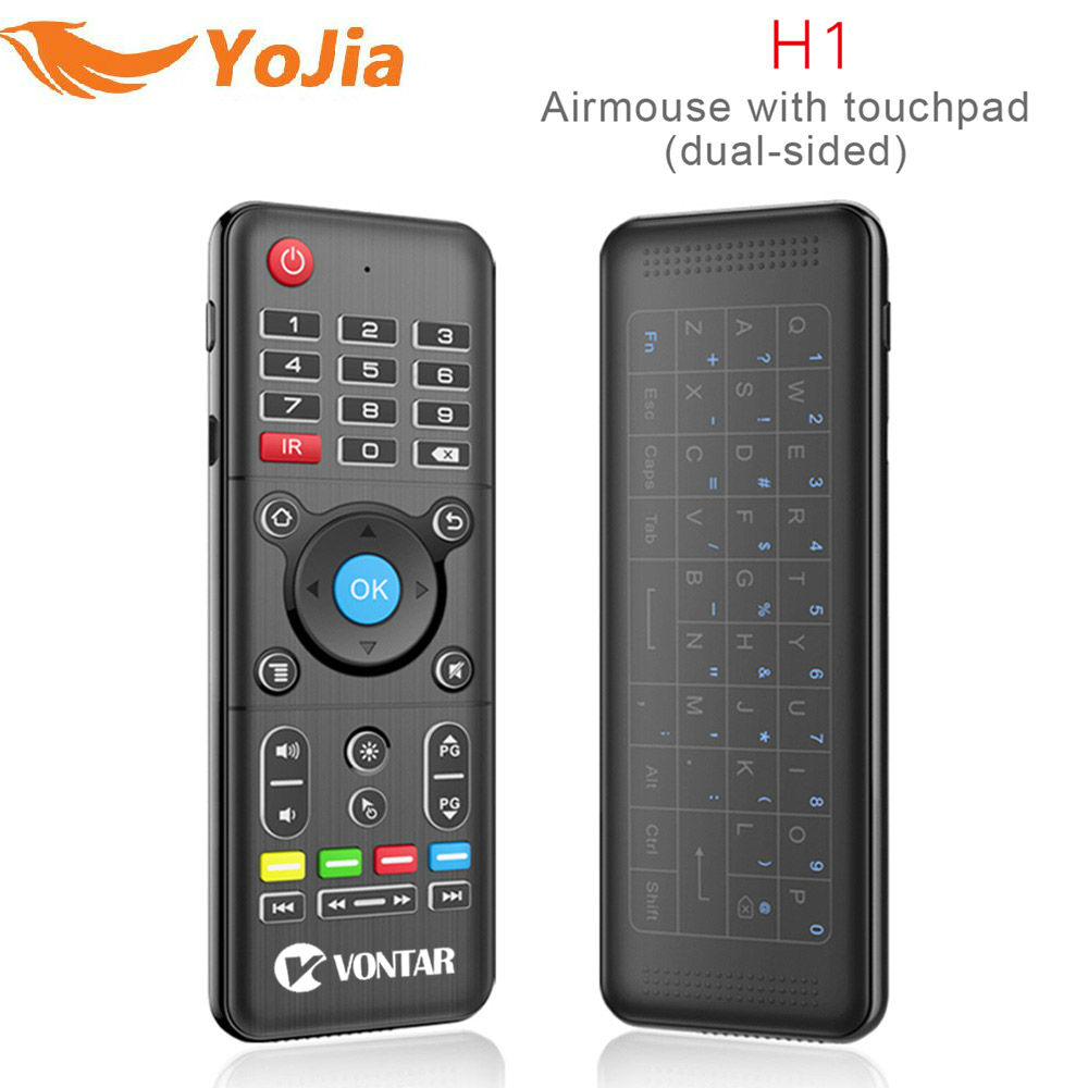 Original H1 2.4GHz Wireless Air mouse H1 plus mini keyboard Remote Control Backlight Touchpad IR Learning For PC Android TV BOX new arrival 2 4ghz wireless fly air mouse mini keyboard remote control with ir learning function for android tv box pc computer
