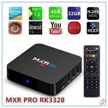 лучшая цена 4GB RAM 32GB ROM MAX MXR PRO Android 7.1 Smart TV Box RK3328 Quad Core 2.4GHz WiFi VP9 H.265 UHD MXRpro 4K Player