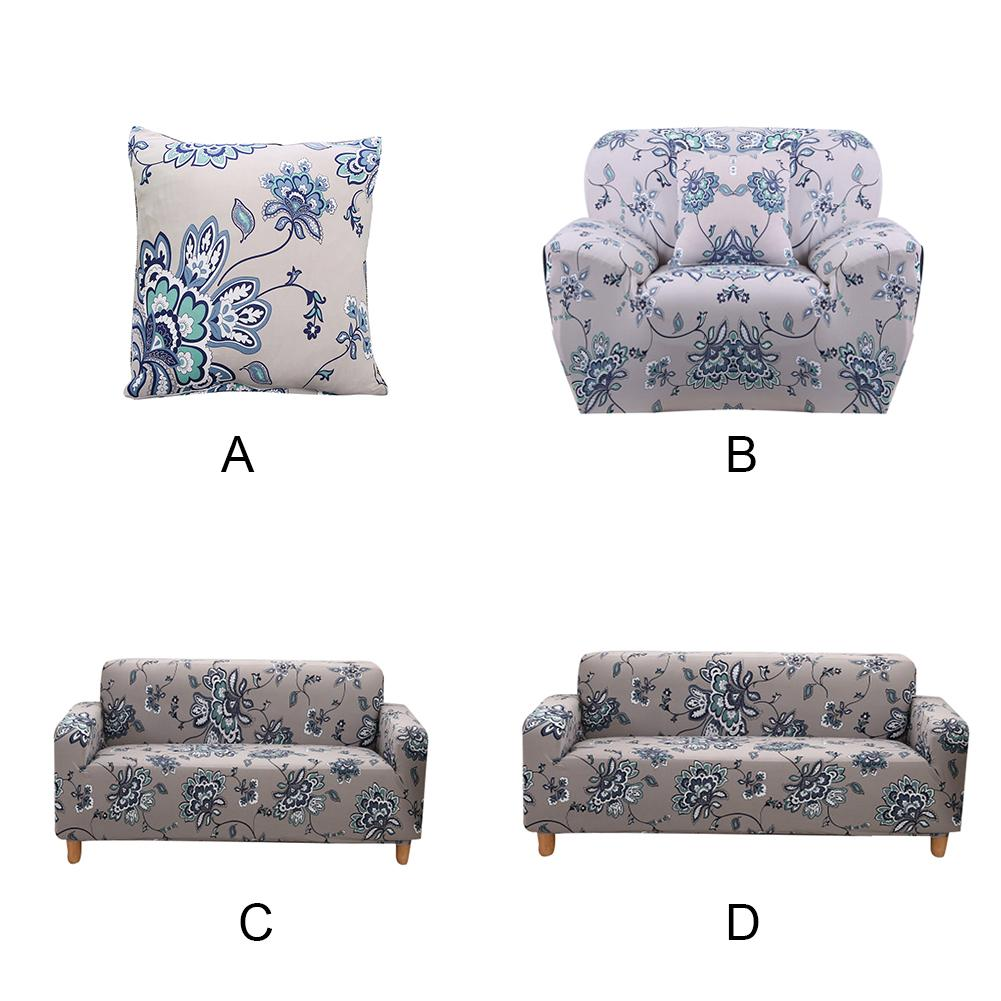 Stretch Slipcovers Elastic Flexible Couch Cover Flower Print Sofa Cover Tight Wrap All-inclusive Convenient Furniture Cover ...