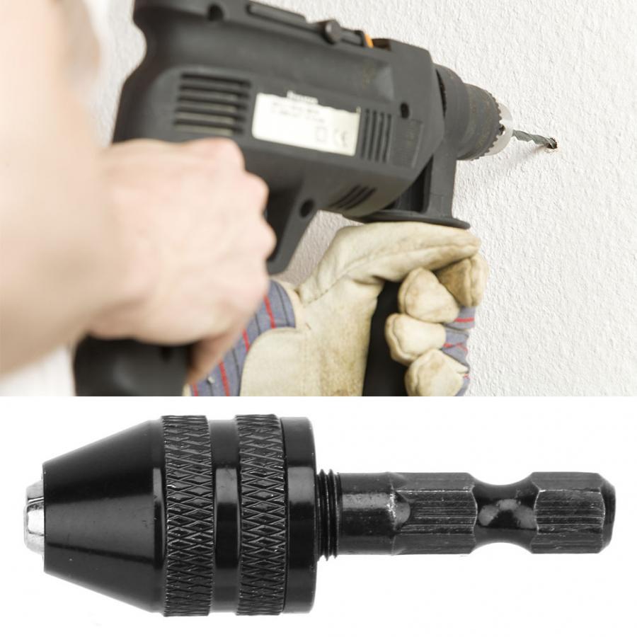 """0.3-3.6mm Keyless Drill Bit Chuck Adapter Converter 1//4/"""" Hex Shank Quick Change"""
