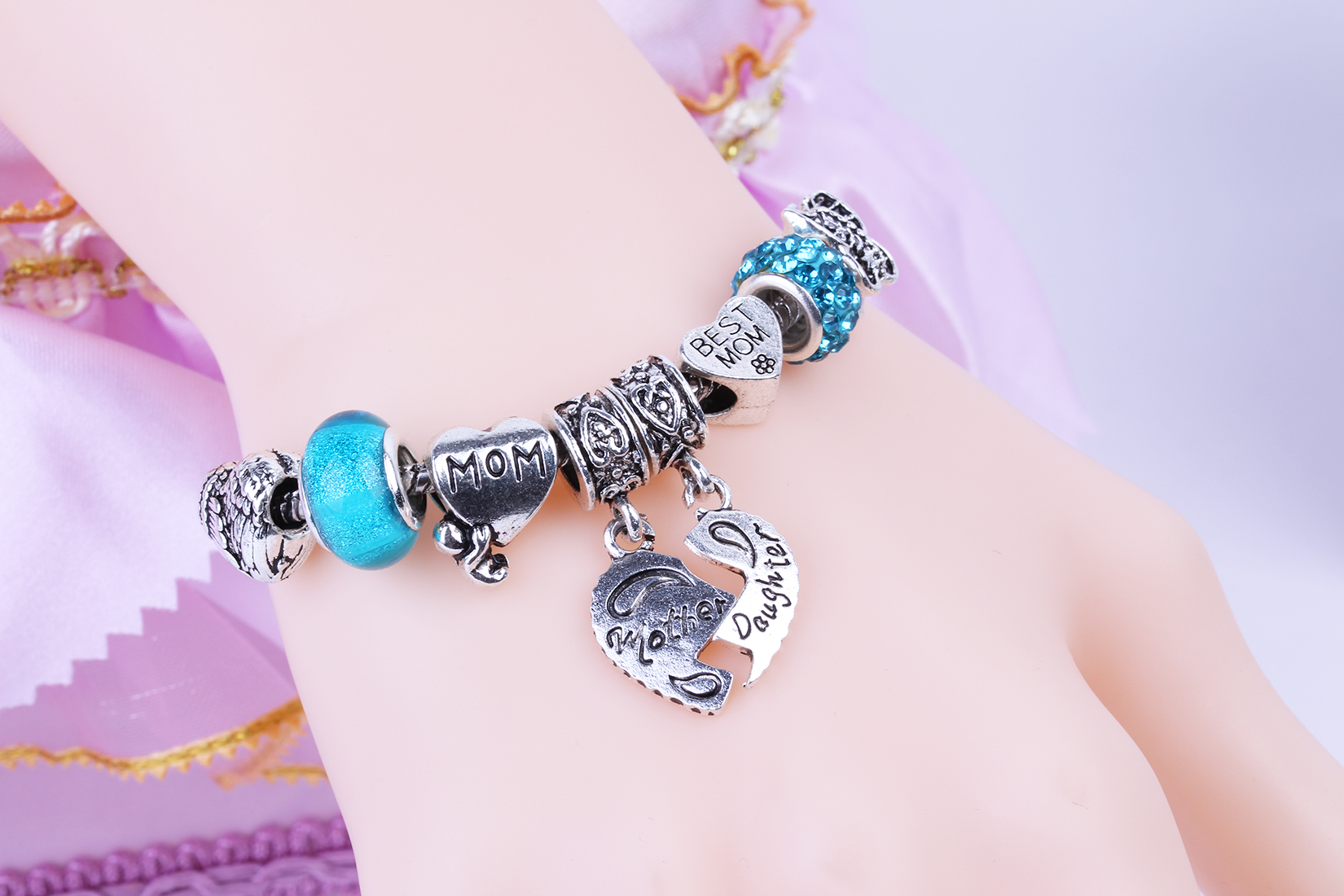 Aliexpress : Buy Fashion European Baby Love Best Mom Charm Bracelet Diy  Beads Fits Original Bracelets & Bangles Wholesale For Women From Reliable  Mom