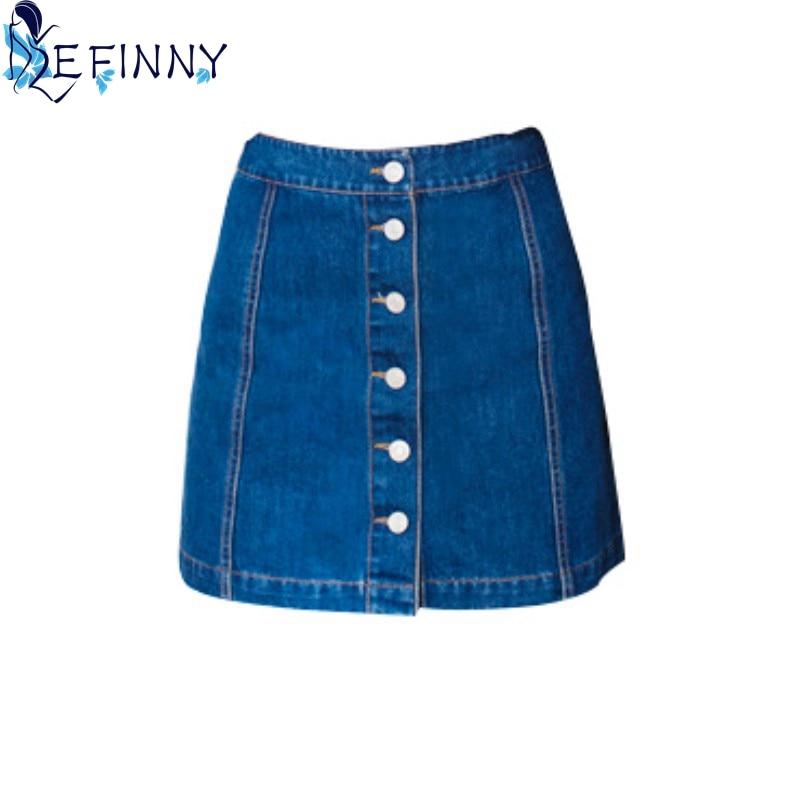 Fashion Women High Empire Skirt All-match Girl Skirt Denim Female Skirt
