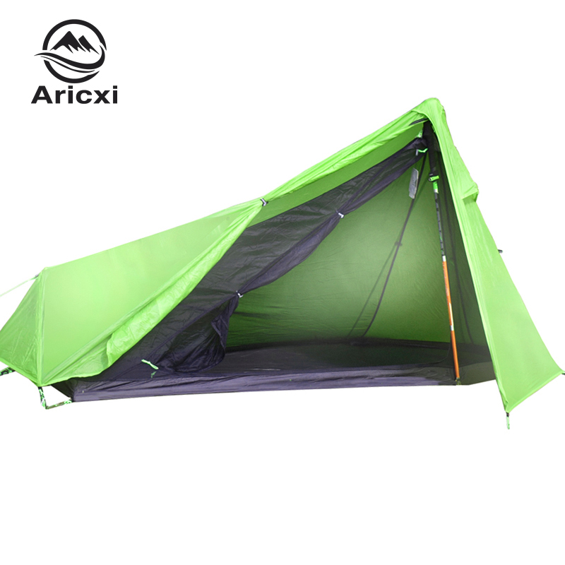 Oudoor Ultralight Camping Tent 3 Season 1 Single Person Professional 15D Nylon Double Side Silicon Coating