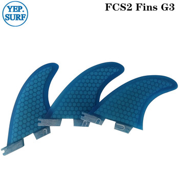 surf FCS2 G3 red/blue Surfboard Honeycomb Fins Surf Fins Tri fin set fcs fin Fibreglass 2color surf fins fcs2 g3 blue surfboard honeycomb fins tri fin set fcs fin fibreglass