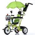 Niños Bebé Bicicleta Portátil de alta Calidad 3 Ruedas de Seguridad Paraguas Coche de Bebé Cochecito de Bebé 1-6 Años de Edad Del Bebé triciclo