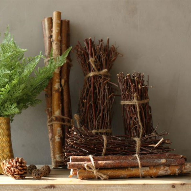 Natural Dried Branch Rustic Wedding Decors For Home White Birch Twigs Branches Thin Birch For Decoration Decorative Centerpieces
