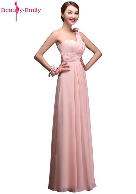 Heißer Verkauf Erröten Rosa Brautjungfer Kleid Chiffon Vestidos De ...