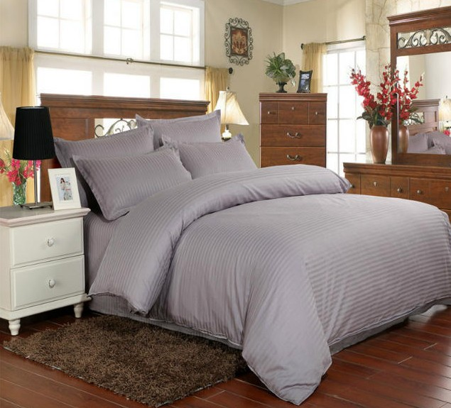 Grey Duvet Covers Bedding Set 100% Cotton Bed Sheets Quilt Cover Bed In A  Bag