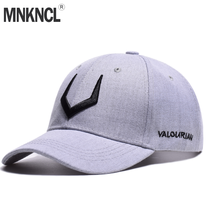 MNKNCL 2018 New High Quality Hat 100% Cotton Snapback Cap V 3D Embroidery Baseball Cap Men and Women Caps