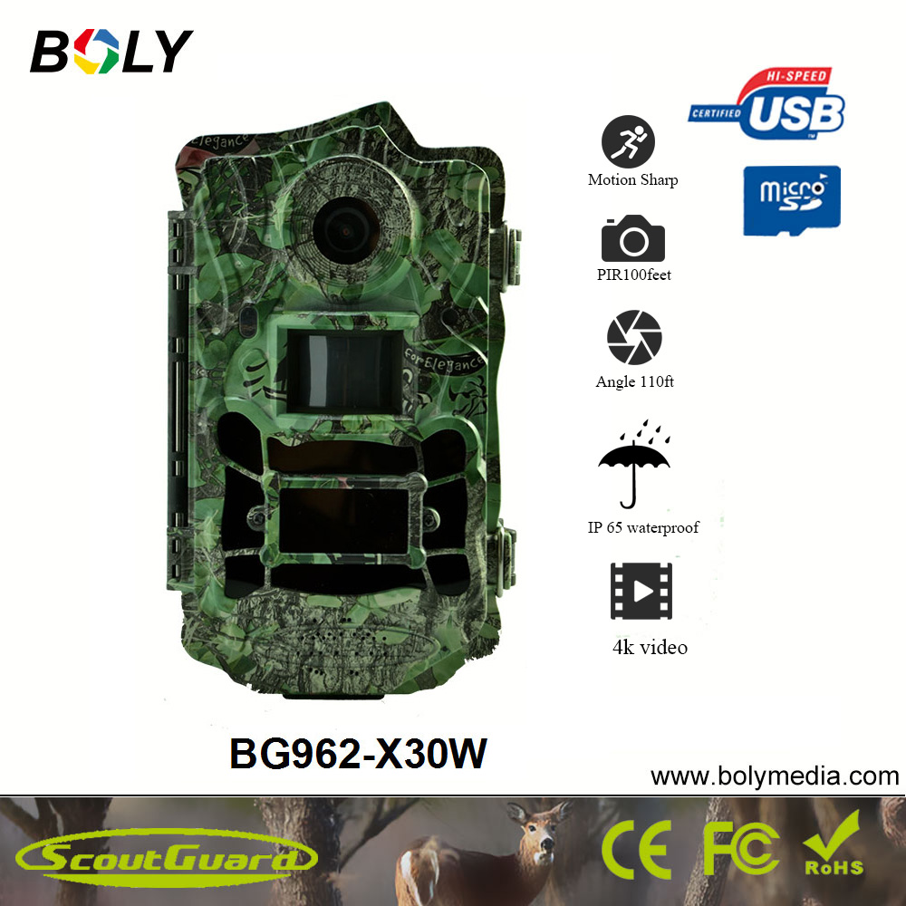 Bolyguard hunting camera 30MP 1080P HD Wide Angle 120 thermal imager 100ft IR CUT Night Vision