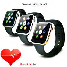 2015 New Smartwatch A9 Bluetooth Smart uhr für Apple iPhone & Samsung Android Telefon relogio inteligente reloj smartphone uhr