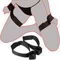 Мягкая игрушка Секс Флирт Сексуальная наручники наручные и лодыжки манжеты Комплект близкий контакт Регулируемая Сексуальные помощь взрослых Игры для пар