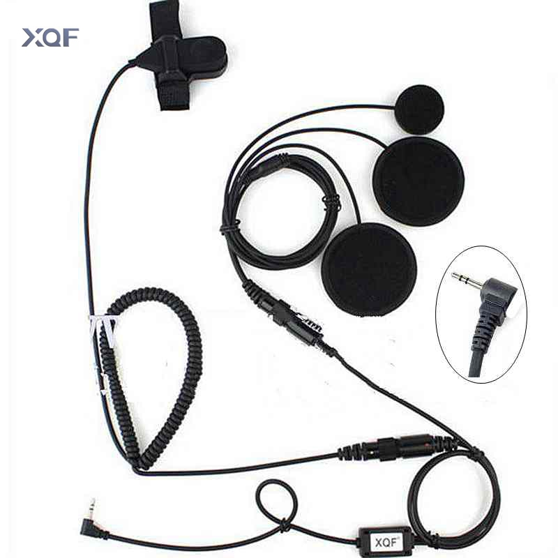 2.5mm Full Face Close Motorcycle Helmet Headset Microphone PTT For Motorola Portable Radio Walkie Talkie T5428 TLKR T80 T6 T60