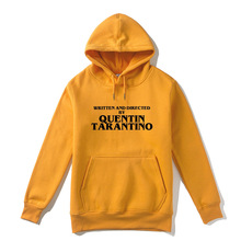 GAAJ pisemne i prowadzone przez QUENTIN TARANTINO męska bluza z kapturem żółty kobiet moda męska 2019 nowy marka bluzy z kapturem odzież wierzchnia męska z kapturem