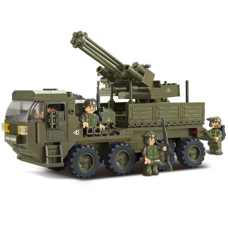 Bricolage lourd transporteur militaire armée jouets pour enfants, ensemble de blocs d'assemblage éducatif B0302, 306 pièces/ensemble arma jouets