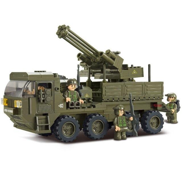 DIY Heavy Transporter Military Army Toys For Kids,Educational Assembly Block Set B0302,306pcs/set arma toys