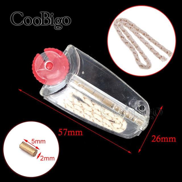 3 uds piedras de pedernal + mecha de algodón recambio para cigarrillo electrónico pedernal piedras para fumar Zippo keroseno encendedores de Gas de aceite accesorio para fumar