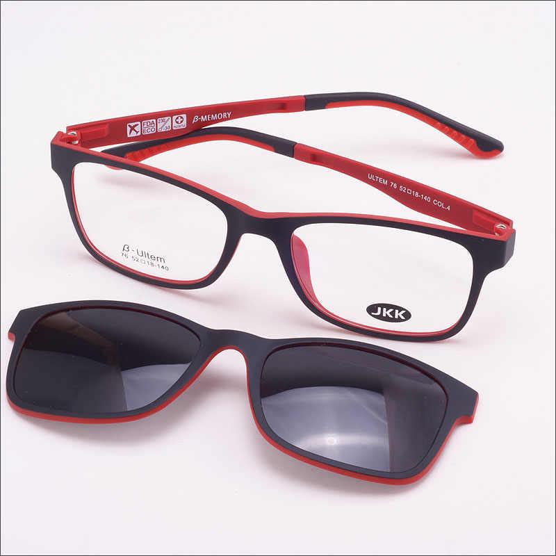 3f1144f99a Free Shiping 3d Glasses Frame With Magnet Polarized Clip Sunglasses Ultem  Glasses full Rim Functional Glasses