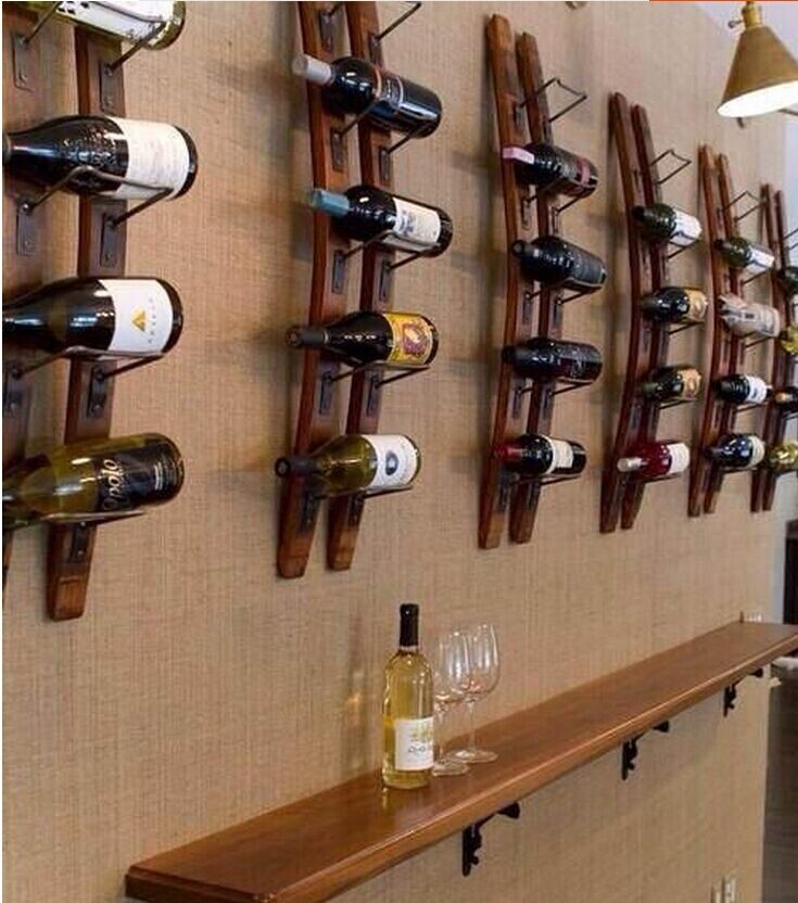 Wall Mounted Wood Wine Rack