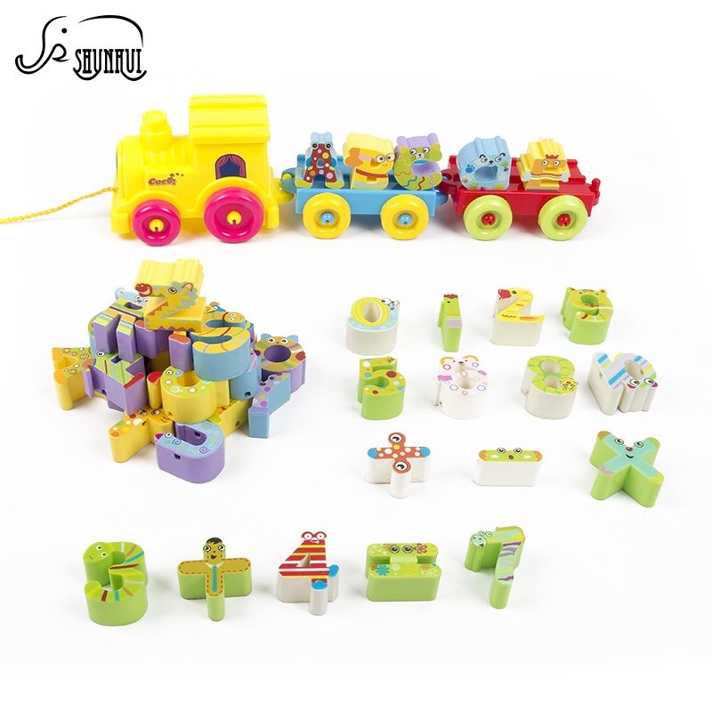 Baby Toys Small Train Vehicle DIY Building Blocks Plastic Stack Number Letter Matching Intelligent Toy for Children gifts 45pcs 48pcs good quality soft eva building blocks toy for baby