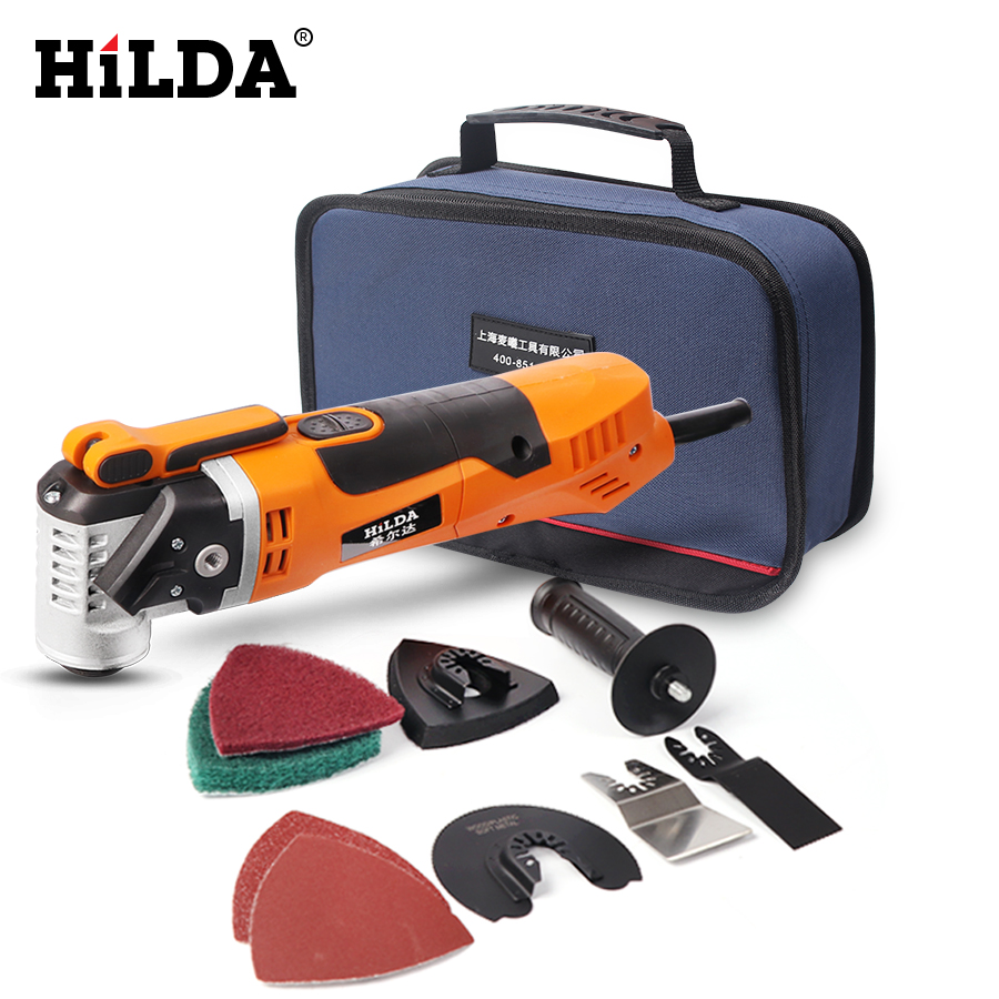 HILDA Oscillating Multi-Tools Renovator Tool Oscillating Trimmer Home Trimmer woodworking Tools Multi-Function Electric Saw