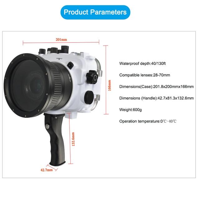 Für Sony A7 mit Genaue Alarm Summer Ausrüstung Seafrogs 40 m/130ft Unterwasser Wasserdichte Gehäuse Tauchen Fall