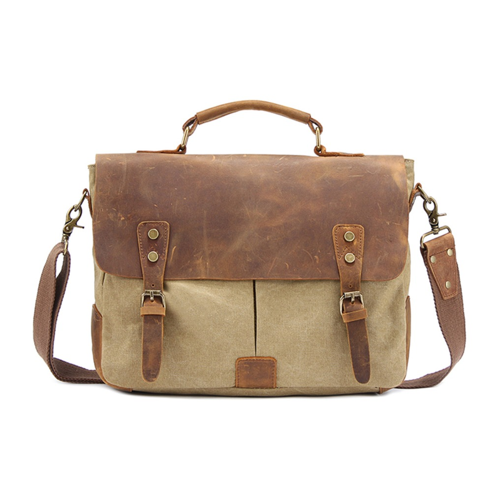 Men Messenger Bags Shoulder Bag Canvas Leather Big Famous Designer Brands High Quality Men's Travel Bags High Quality For Men high quality canvas leather men postman bag wholesale messenger bag vintage canvas shoulder belt bags travel bags for men