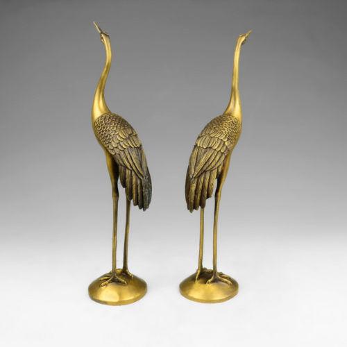 Daoist Brass Crane Pair 1