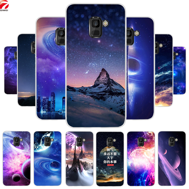 Soft TPU <font><b>Case</b></font> For <font><b>Samsung</b></font> <font><b>Galaxy</b></font> <font><b>A8</b></font> <font><b>2018</b></font> Space Silicon Cover Coque For <font><b>Galaxy</b></font> A6 J4 J6 Plus J8 A7 A9 <font><b>2018</b></font> Phone <font><b>Cases</b></font> Coque capa image