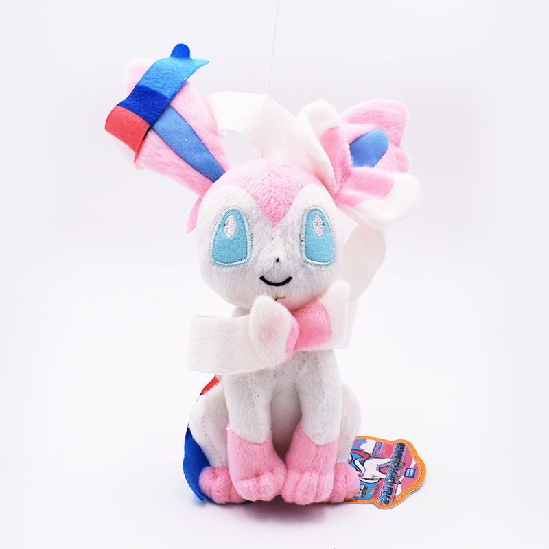 24cm Sylveon Plush Toy Plush Peluche Doll Hot Toys Soft Stuffed Toys Animal Dolls Free Shipping