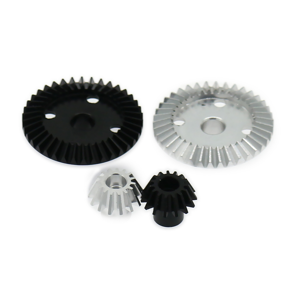 7075 Top Level Alloy Differential Ring Gear+Pinion Gear For Rc Hobby Model Car 1/18 Wltoys A959 A969 A979 K929 A580071S Toy Part