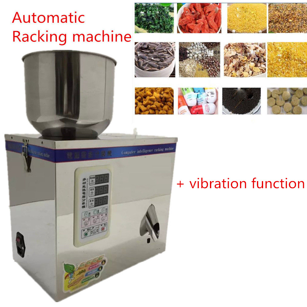 Automatic Weighing with Vibration Food package 1~25g 220V Fulling Racking machine Granular Pack cursor positioning fully automatic weighing racking packing machine granular powder medicinal filling machine accurate 2 50g