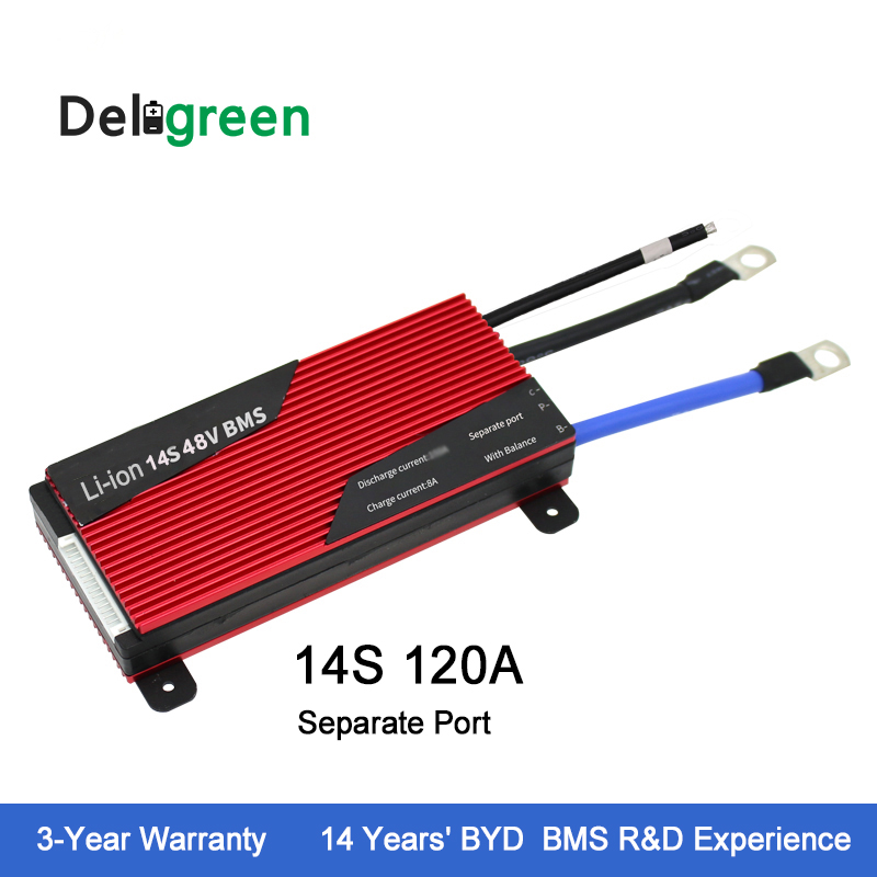 High quality 14S 48V BMS for 18650 battery protection board rated 3.7V Li-ion battery pack for ebike, scooter стоимость