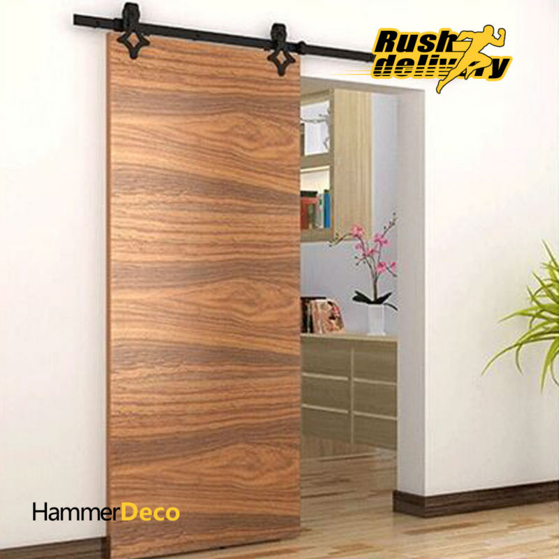 High Quality 5 8 Ft Single Sliding Barn Wood Closet Door Hardware