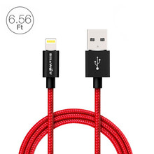 BlitzWolf MFI Certified For Lightning To USB Sync & Charge Braided Cable 6.56t/2m For iPhone 6