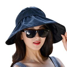 Summer Casual Women Ladies Anti-UV Wide Brim Beach Sun Hat Elegant Polyester Floppy Bohemia Cap For Women Beach Dating Cap NO