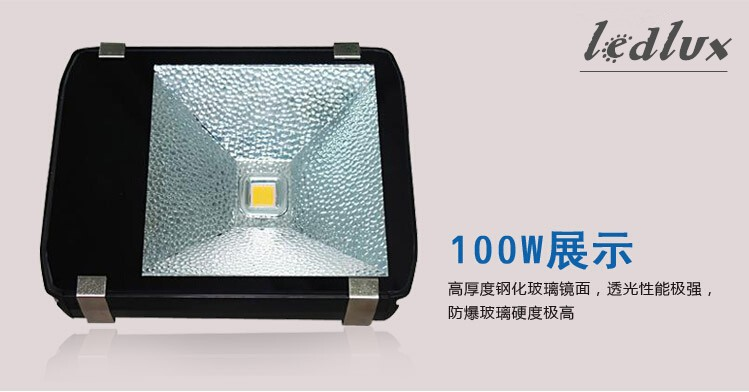 100 Вт 200 Вт 300 Вт 400 Вт Светодиодный прожектор 85-265 в высокой мощности прожектор прожекторная уличная лампа светодиодный свет туннеля