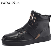FXDXENEK Brand New Winter Men's Fashion Boots Shoes High Quality Casual Shoes For Man Metal Decoration Design Ankle Boots 39-45