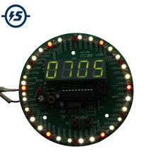 DIY Kit 60 Seconds Rotating Clock DIY Kit Electronic Alarm Clock 172 Components Seconds Show Speed Correction Electronic DIY Kit