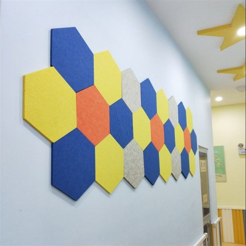Image 5 - 10Pcs 3D Felt Hexagon Letter Message Board Photo Display DIY Art Home Office Planner Schedule Board Wall Decoration Memo Holder-in Card Holder & Note Holder from Office & School Supplies