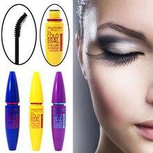 1pc Brand Black Mascara False Eyelashes Colossal Volume Express Make Up Eyes Curling Waterproof rocket magnum false lash mascara все цены