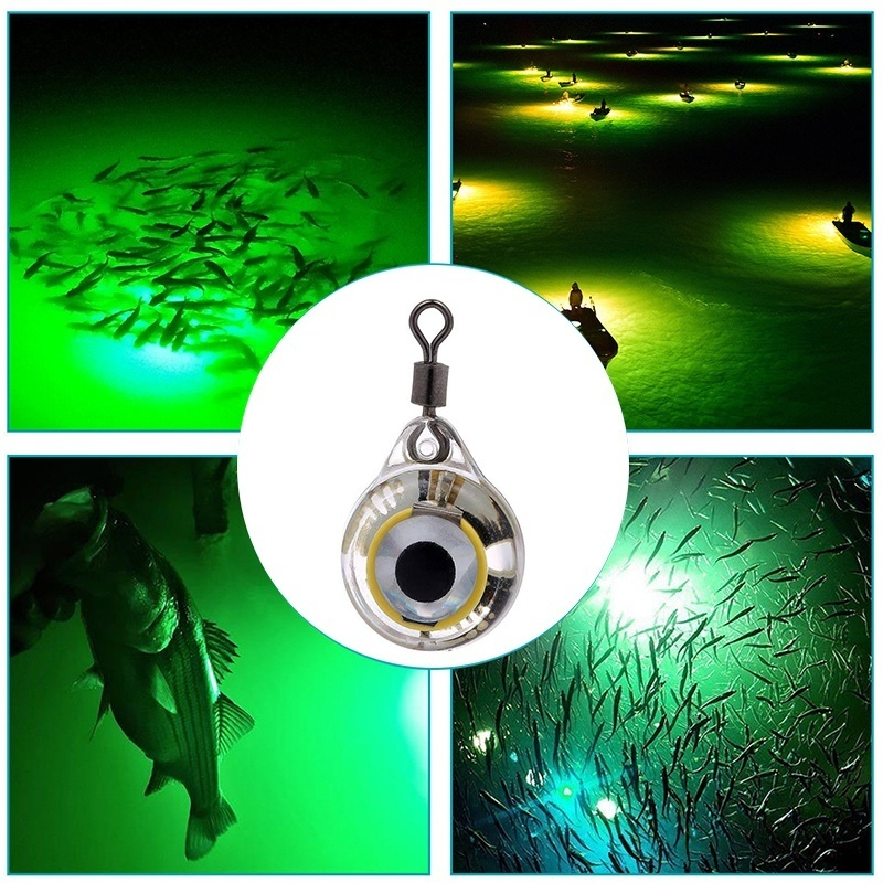 LED Fishing Lure Night Light Battery Powered Glow Underwater Attracting Fish Lamp Fishing Bait -Hot LED Fish Light B2Csh