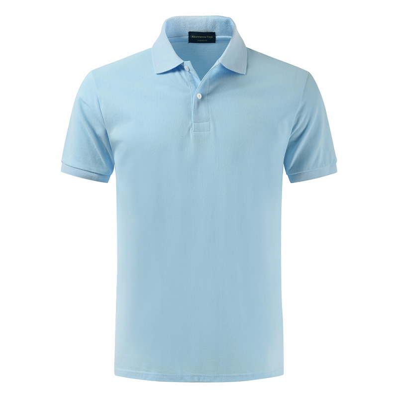 High quality 100% cotton 2018 lapel pure cotton   polo   shirt with a simple, simple and thin shirt in summer
