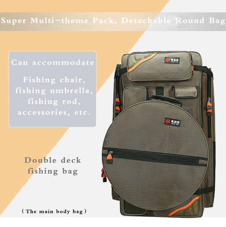 fishing chair hand wheel office exercises aliexpress com buy bag 80cm multifunctional tackle large capacity can accommodate chairs use thick oxford cloth wear resistant with steel wire shaping custom zipper design is more