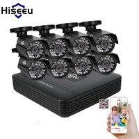 Hiseeu 8CH CCTV KIT System HD 1200TVL 720P IR Bullet Outdoor CCTV Surveillance Home AHD Camera