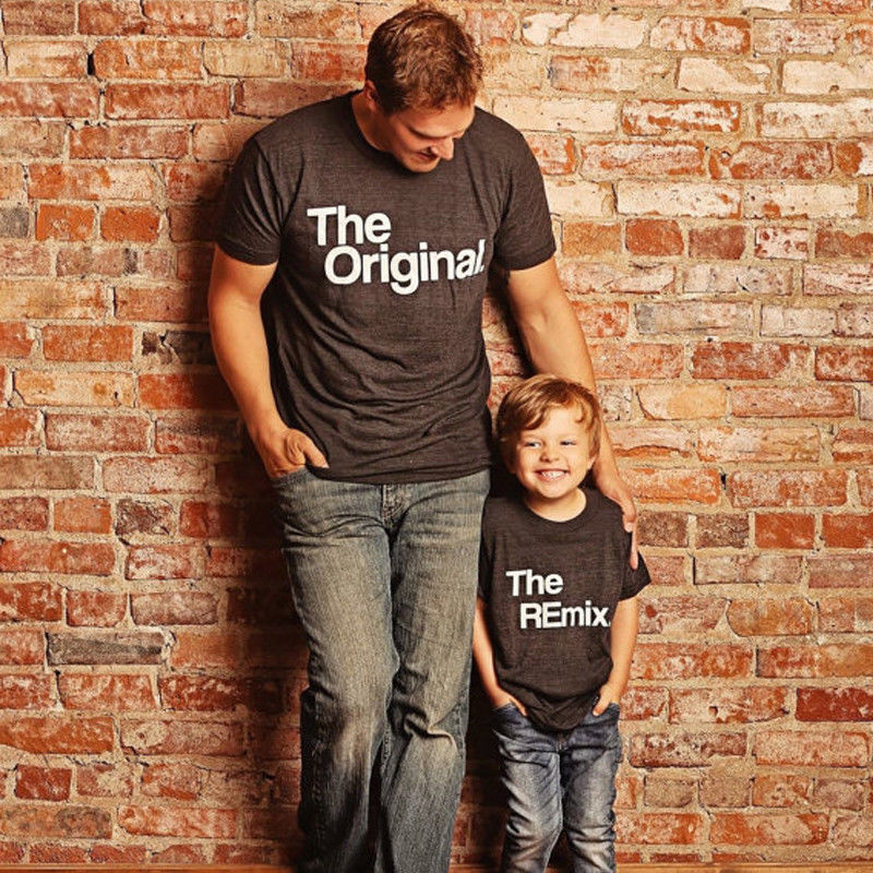 Audacious Family Matching Clothes Women Men Father And Son Girl Boys Kid Cotton T Shirt Short Sleeve Summer Letter Basic T-shirt Tees Good Reputation Over The World