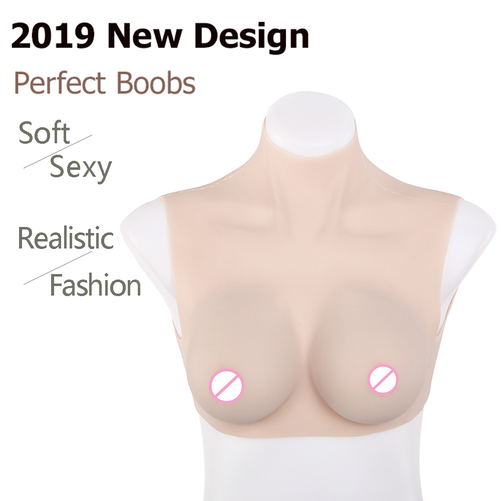 IVITA Artificial Silicone Breast Forms Realistic Fake Boobs B C Cup Breasts For Crossdresser Transgender Shemale