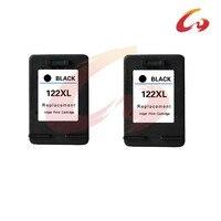 2 Pcs For HP 122 Black Ink Cartridge For HP 122 Xl Deskjet 1000 1050 2000