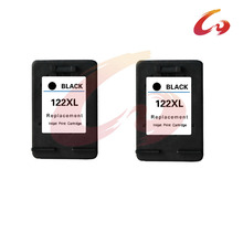 2 pcs For HP 122 Black Ink Cartridge For HP 122 xl Deskjet 1000 1050 2000 2050 3000 3050A 3052A printer