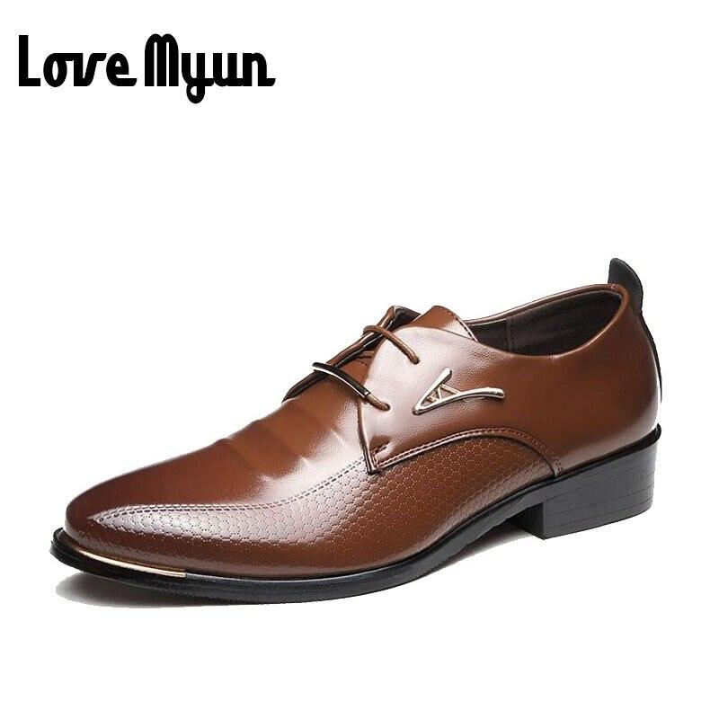 f511f019f5a Nuevo llega para hombre zapatos de vestir de los hombres Británicos zapatos  de cuero suave estilo